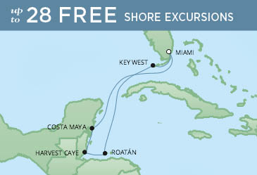 Regent Cruises | 7-Nights Roundtrip from Miami Cruise Iinerary Map