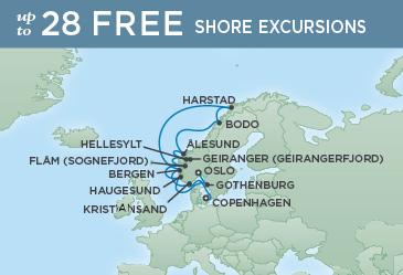 Regent Cruises | 12-Nights from Copenhagen to Oslo Cruise Iinerary Map