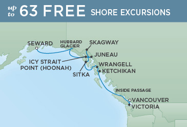 Regent Cruises | 10-Nights from Anchorage to Vancouver Cruise Iinerary Map