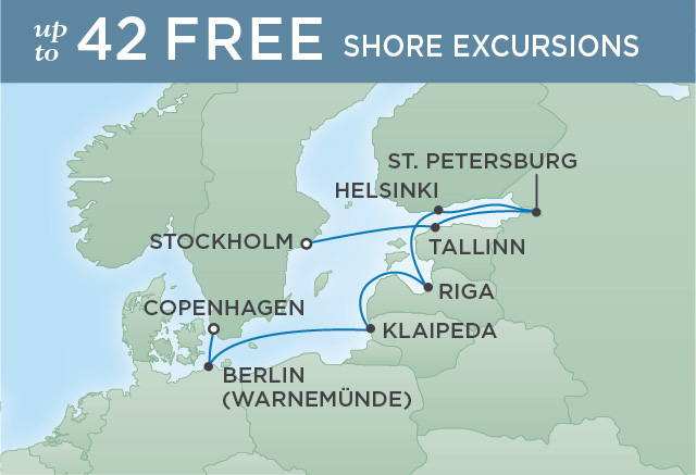 Regent Cruises | 10-Nights from Stockholm to Copenhagen Cruise Iinerary Map