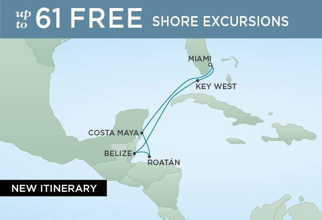 Regent Cruises | 7-Nights Roundtrip from Miami Cruise Iinerary Map