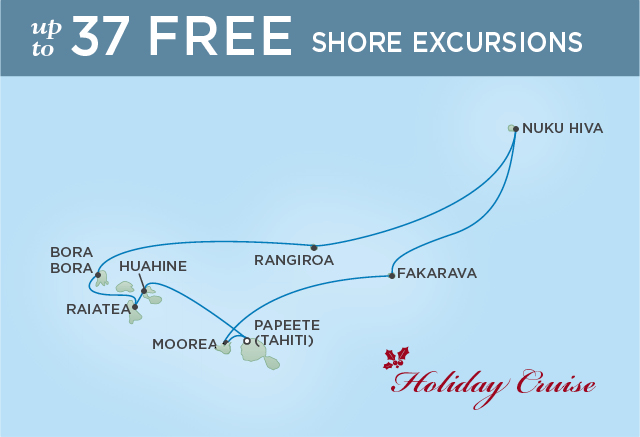 Regent Cruises | 11-Nights Roundtrip from Papeete Cruise Iinerary Map