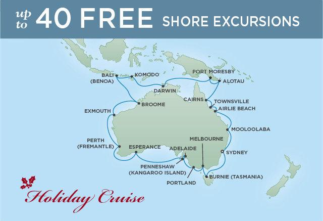 Regent Cruises | 16-Nights from Sydney to Bali Cruise Iinerary Map