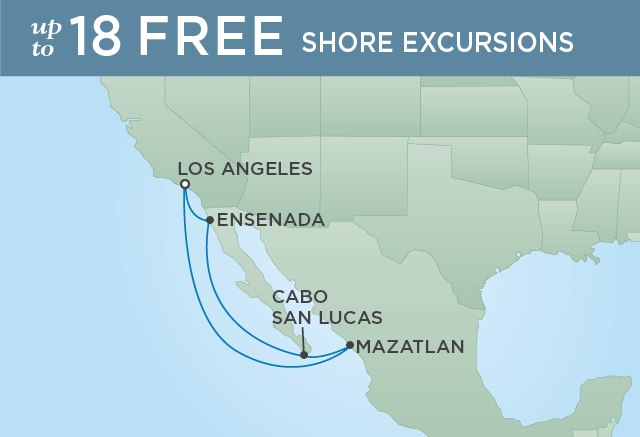 Regent Cruises | 7-Nights Roundtrip from Los Angeles Cruise Iinerary Map