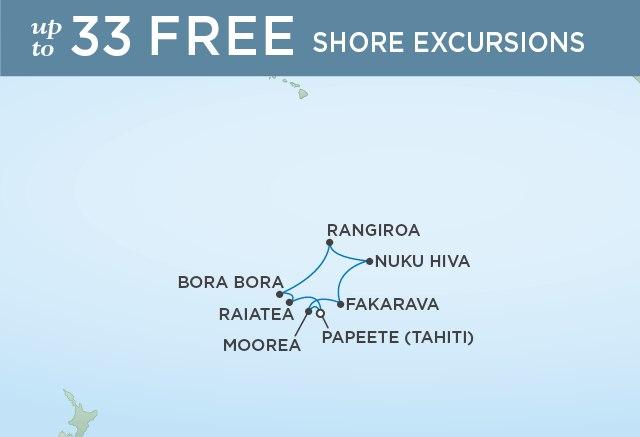 Regent Cruises | 10-Nights Roundtrip from Papeete Cruise Iinerary Map