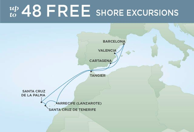 Regent Cruises | 10-Nights Roundtrip from Barcelona Cruise Iinerary Map