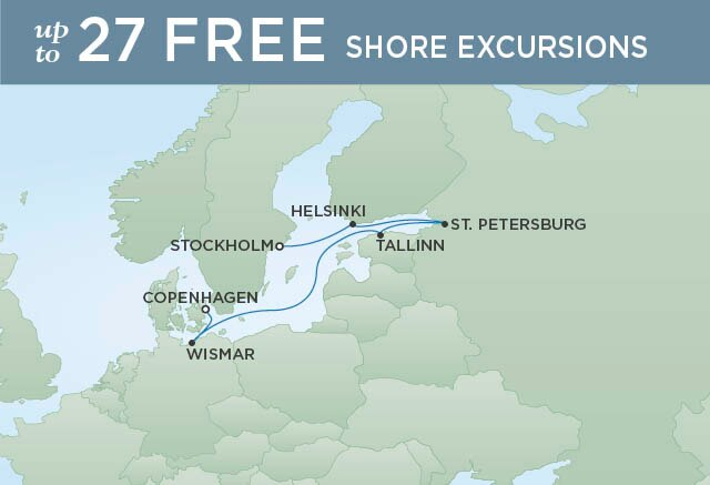 Regent Cruises | 7-Nights from Stockholm to Copenhagen Cruise Iinerary Map