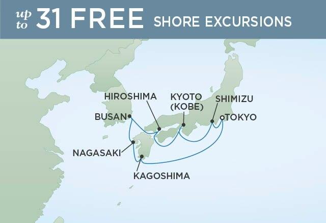 Regent Cruises | 10-Nights Roundtrip from Tokyo Cruise Iinerary Map