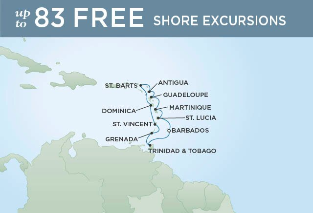 Regent Cruises | 10-Nights Roundtrip from Bridgetown Cruise Iinerary Map