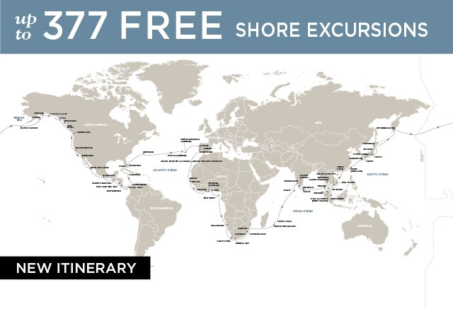 Regent Cruises | 120-Nights Roundtrip from San Francisco Cruise Iinerary Map