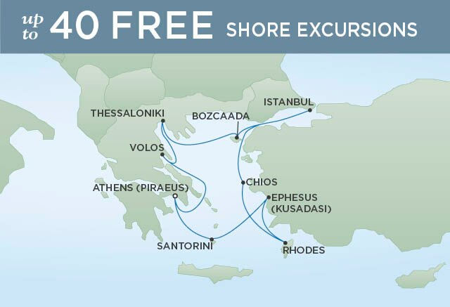 Regent Cruises | 10-Nights Roundtrip from Athens Cruise Iinerary Map