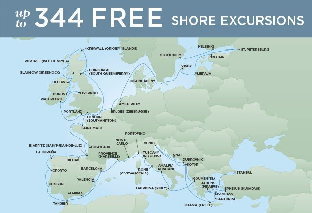 Regent Cruises | 59-Nights from Stockholm to Istanbul Cruise Iinerary Map