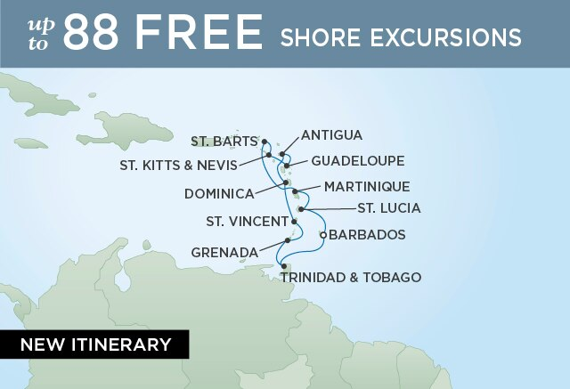 Regent Cruises | 11-Nights Roundtrip from Bridgetown Cruise Iinerary Map