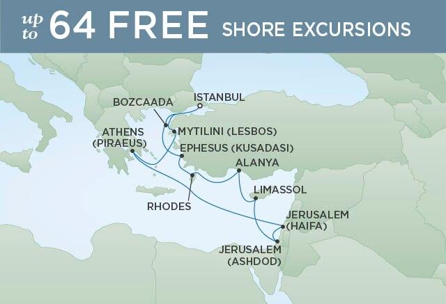 Regent Cruises | 12-Nights Roundtrip from Istanbul Cruise Iinerary Map