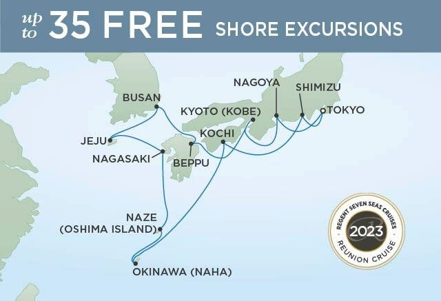 Regent Cruises | 14-Nights Roundtrip from Tokyo Cruise Iinerary Map
