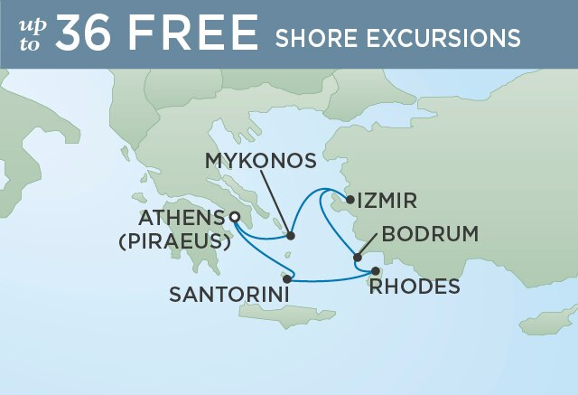 Regent Cruises | 7-Nights from Athens to Venice Cruise Iinerary Map