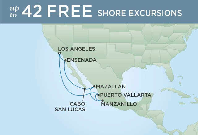 Regent Cruises | 9-Nights Roundtrip from Los Angeles Cruise Iinerary Map