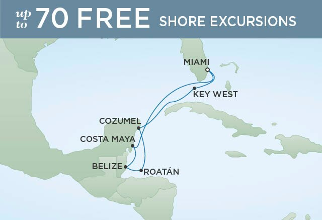Regent Cruises | 7-Nights Roundtrip from Bridgetown Cruise Iinerary Map