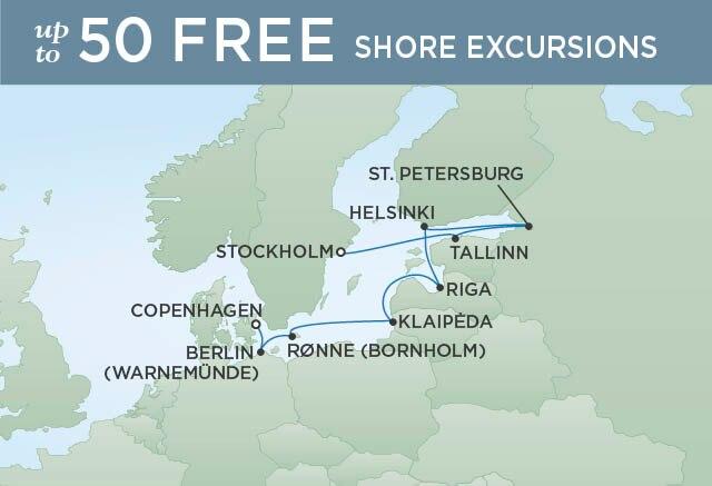 Regent Cruises | 9-Nights from Copenhagen to Stockholm Cruise Iinerary Map